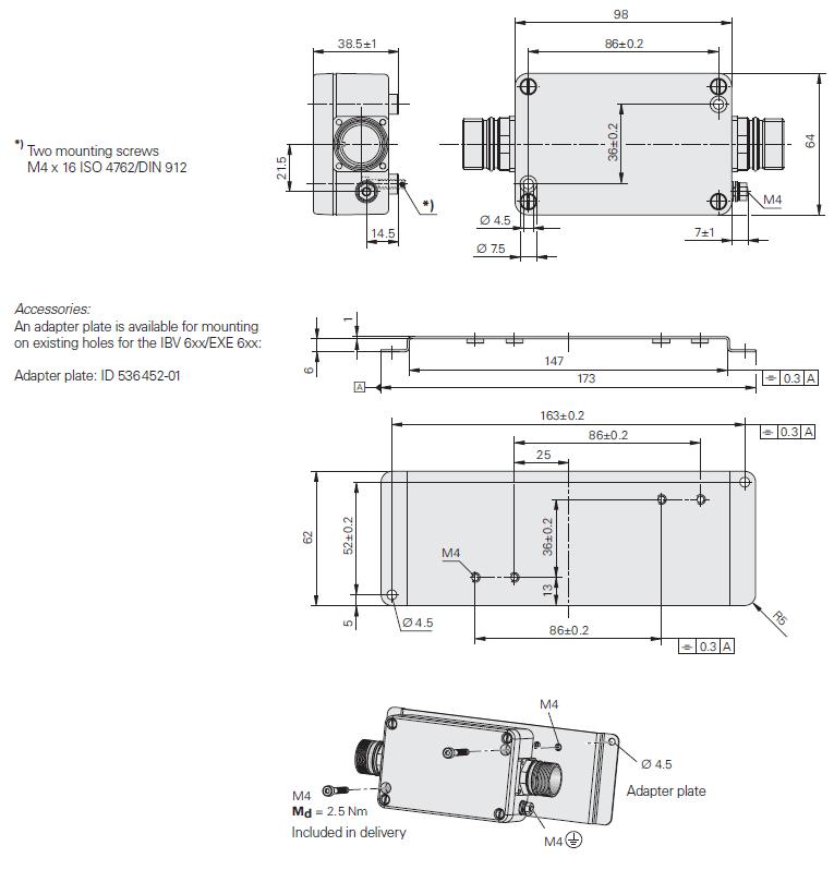 Boitier EXE 100 - schéma