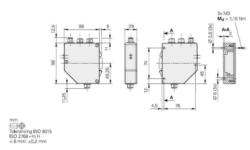 boitier Gateway HEIDENHAIN - schéma